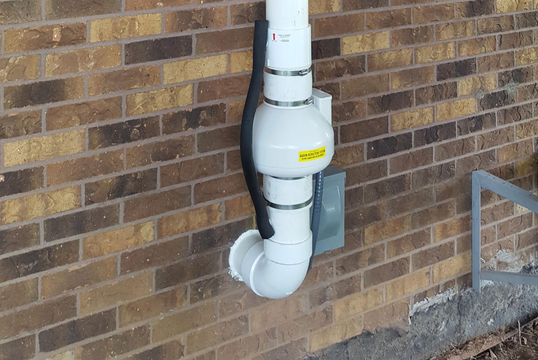 Outside Radon Mitigation System